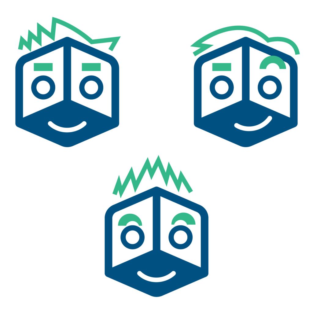 3 Parcel Planet Heads